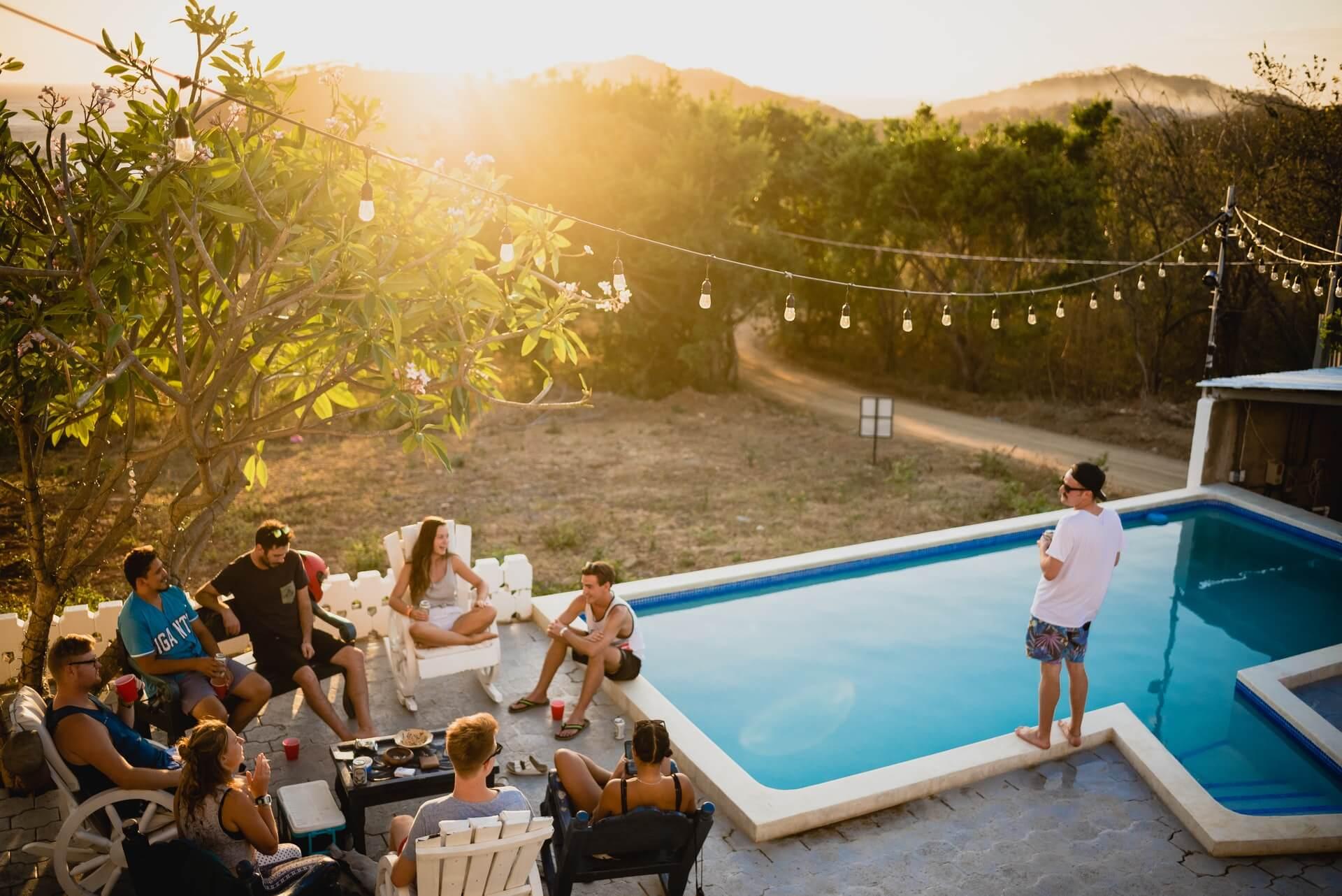 Pool Side Bachelorette Party