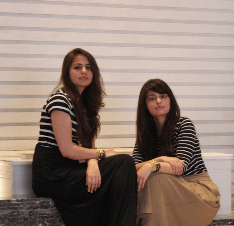 Ashima Chhabra left and Mehak Kalra right