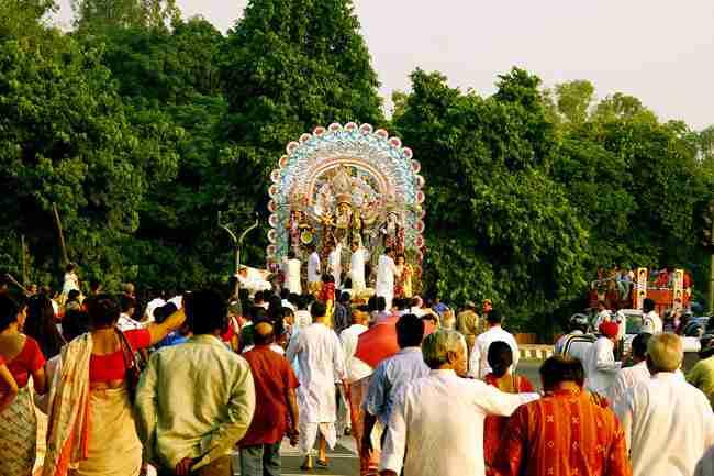 Shipra Suncity Sarbjanin Durga Puja Mandap