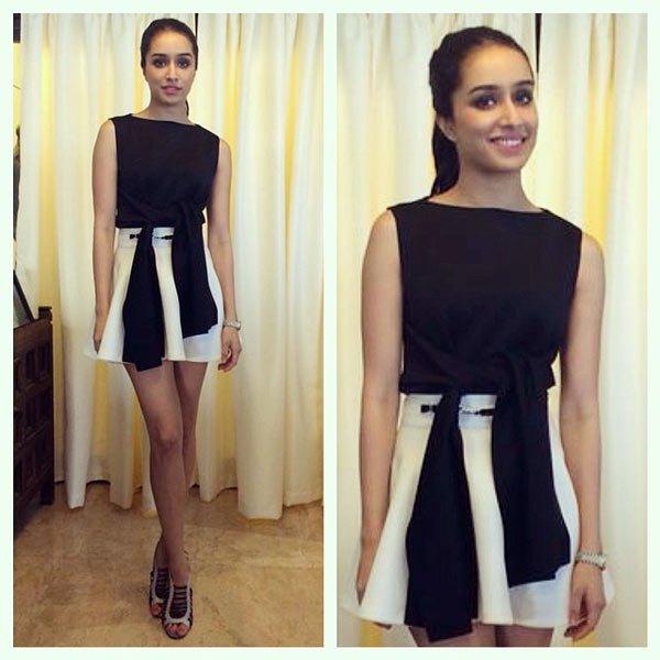 shaddra kapoor in mini short skirt