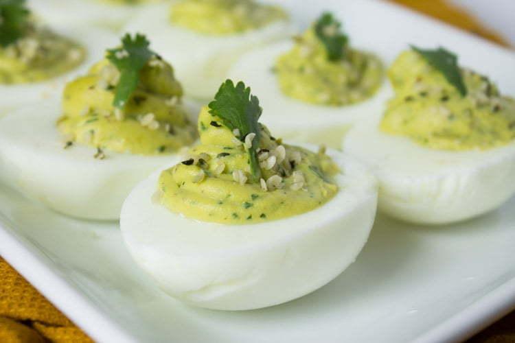 Keto Diet Food Avocado Hemp Deviled Eggs
