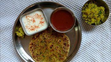 Raw Papaya Stuffed Paratha
