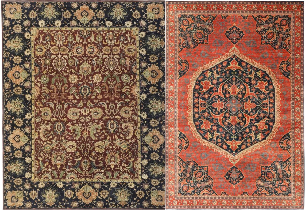 Multi Red, Medalian - Persian Hand knotted Carpets