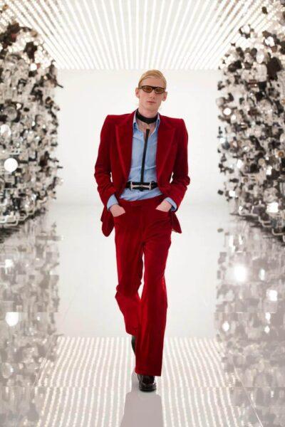 Gucci Aria - Red Velvet Suit