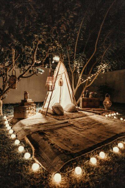Anniversary Celebrations Backyard Setup