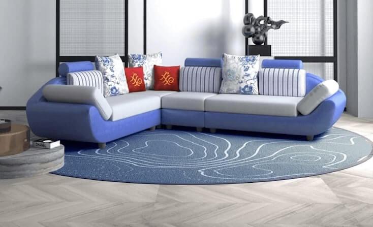 House of Pataudi Valencia Fabric Sofa Set