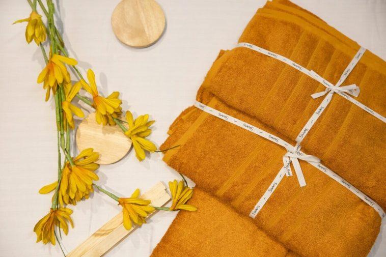 Rust Orange Bamboo Cotton Bath Towel