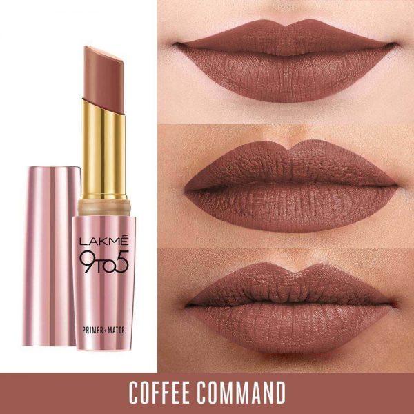 Lakme 9-5 Matte Lipstick Coffee Command