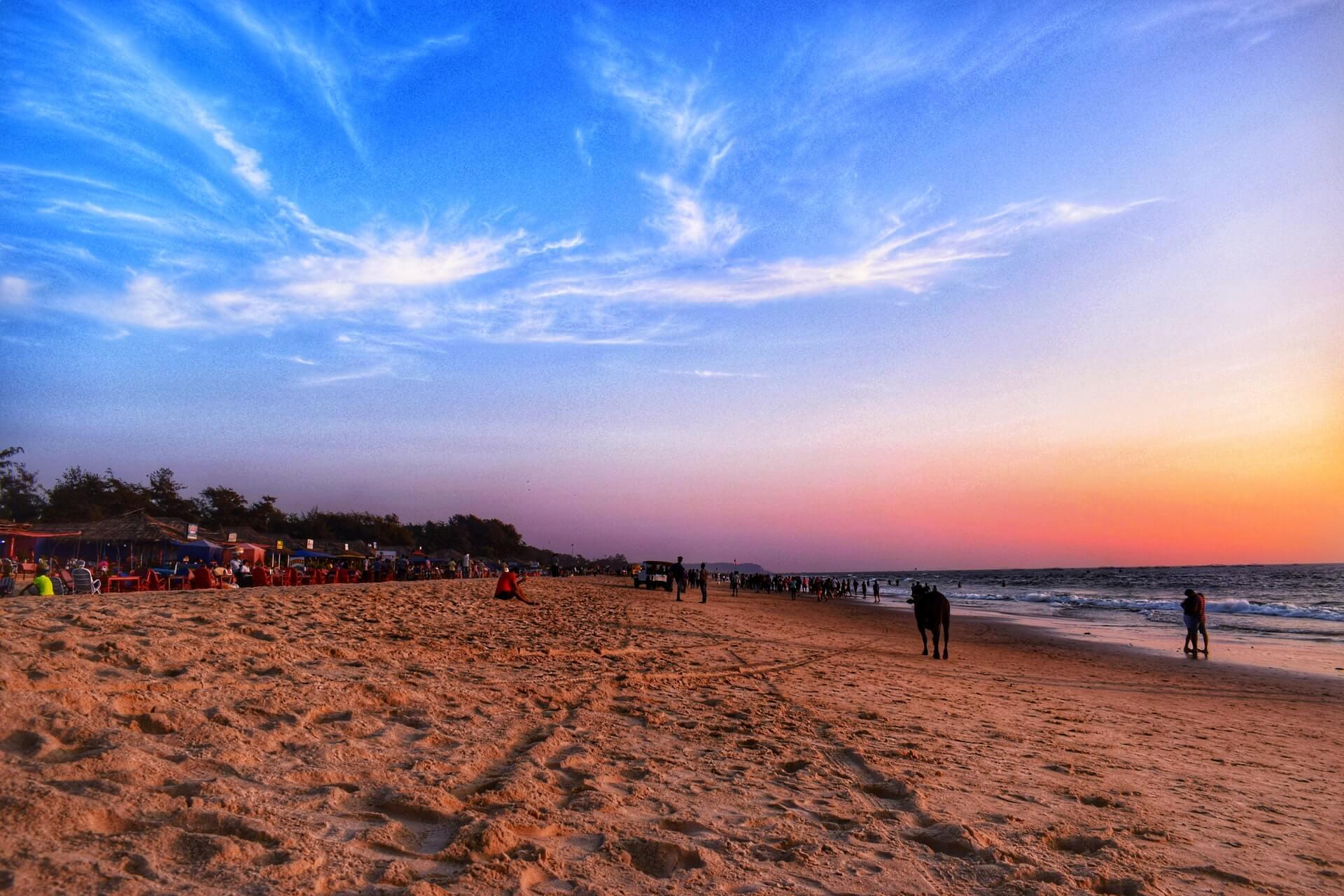 Travel People Goa Beach Evening