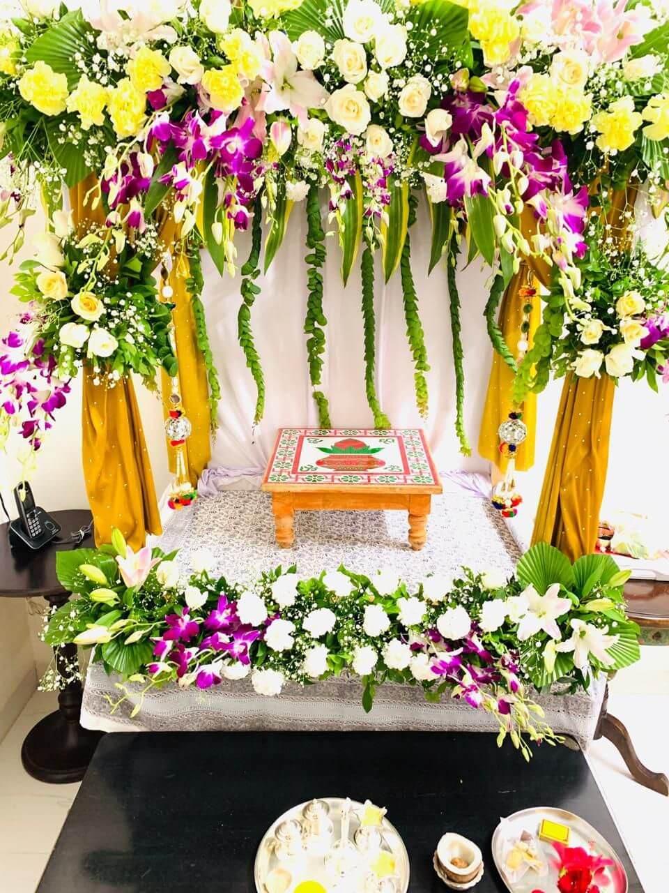 Flower Decoration For Ganpati