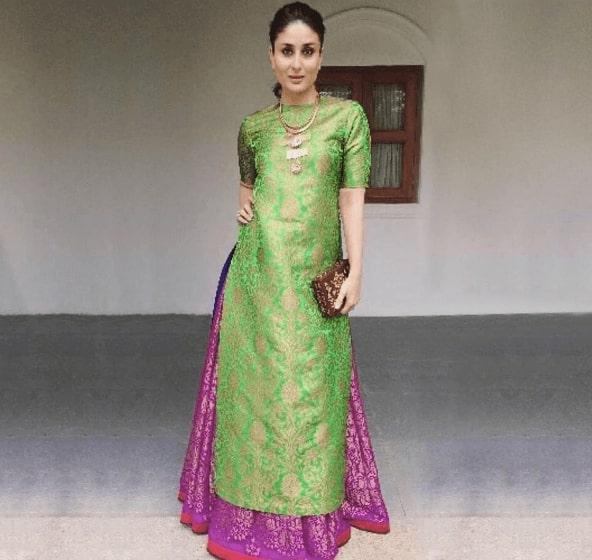 Banarasi Silk Kurta and Skirt Set