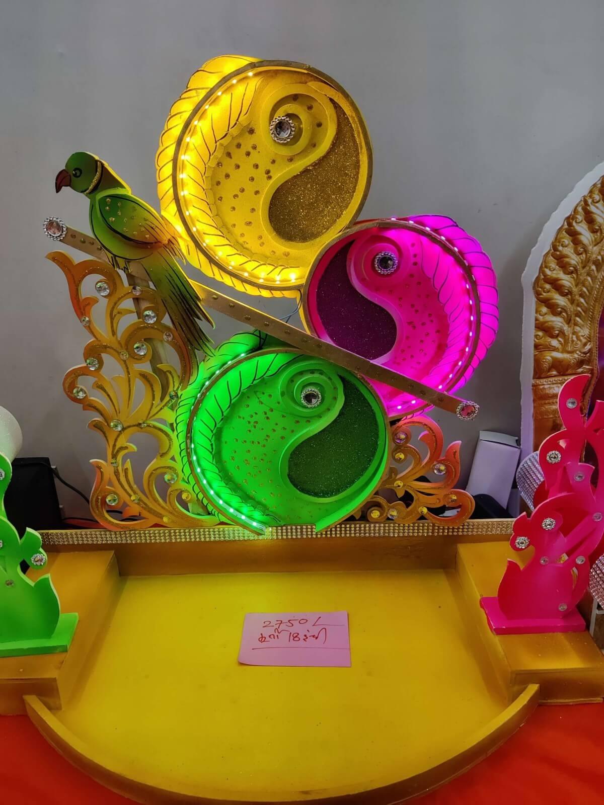 Ganpati Makhar led lights makhar