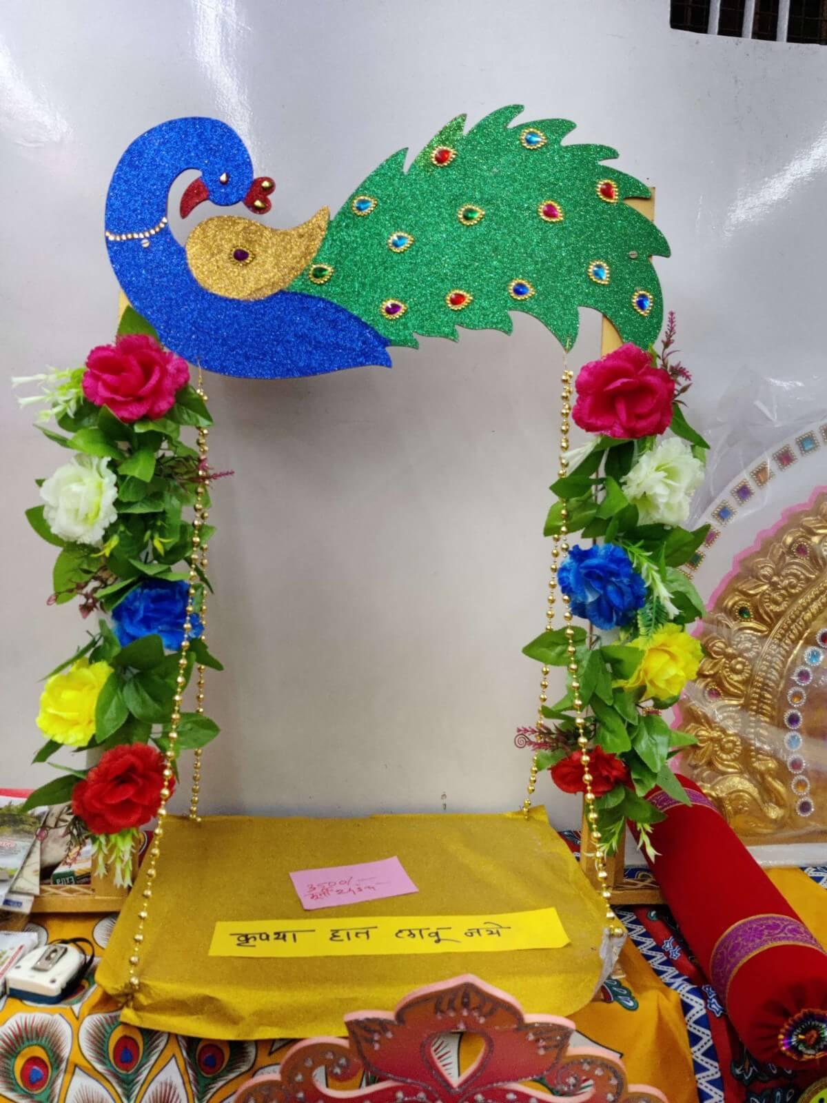 cardboard ganpati makhar