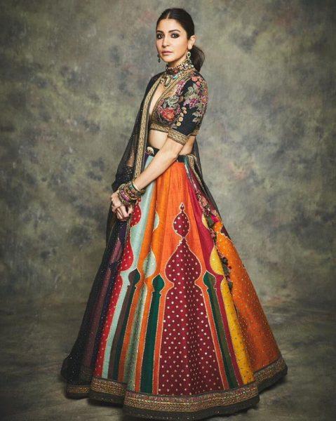 Multicolour Silk Zari Work Lehenga Choli