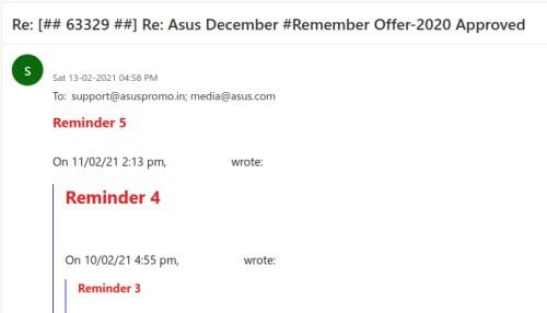 Asus Support Reminder